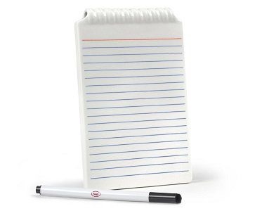 whiteboard notepad pen