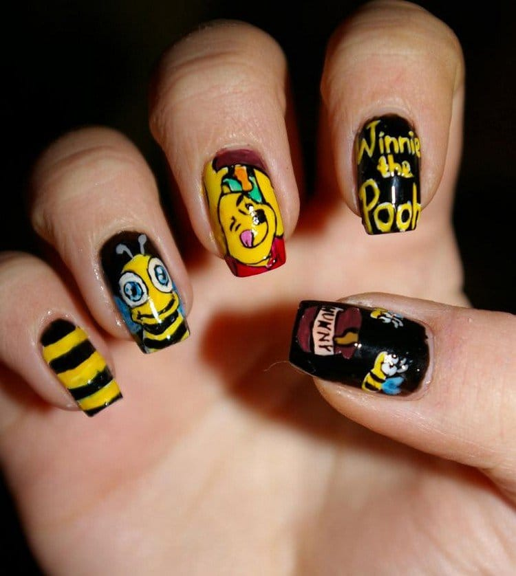 winnie pooh nails