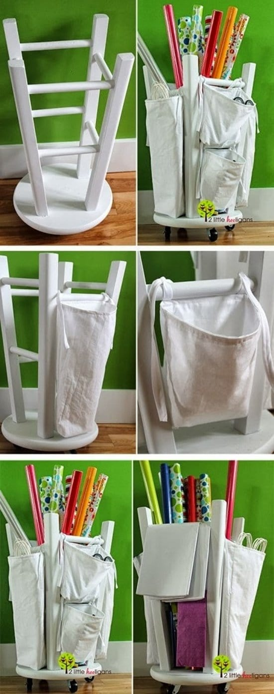 wrapping-paper-organizer