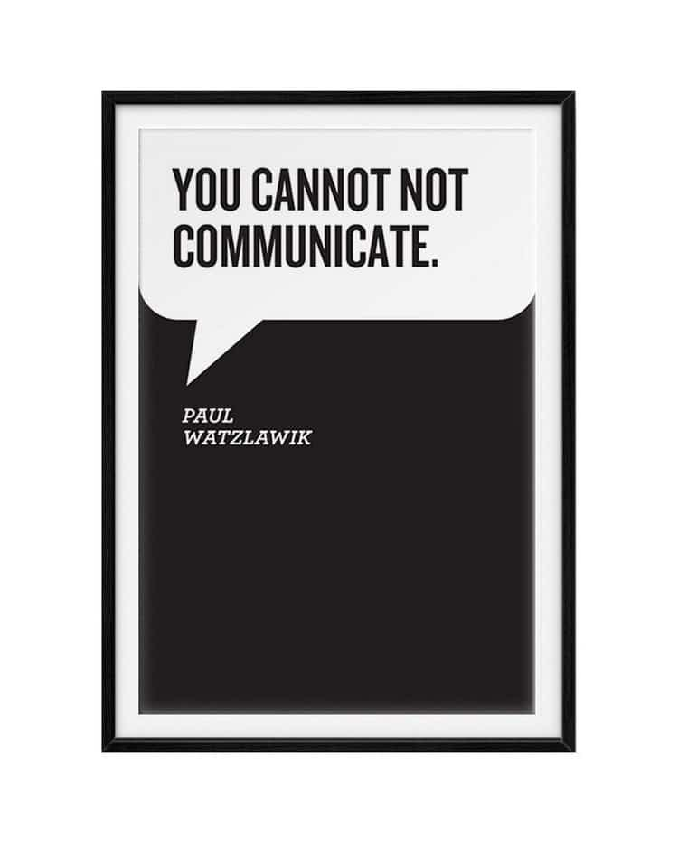 you cannot communicate
