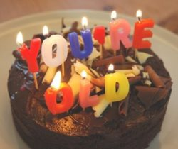 you're old birthday candles