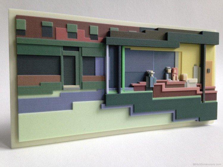 3d people building