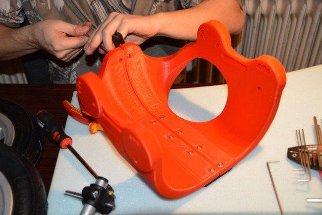 3d printed wheelchair assemble man