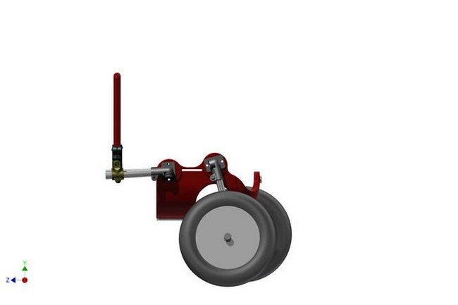 3d printed wheelchair assembling side wheels