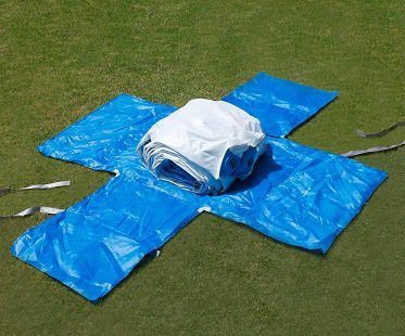 50 foot slip and slide set up