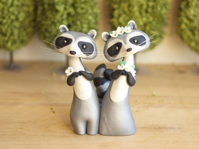 Adorable Cake Toppers Sofie Skein Racoon