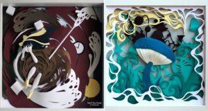 Alice In Wonderland Paper Illustrations