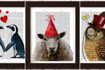 Animal Paintings Antique Dictionary Pages