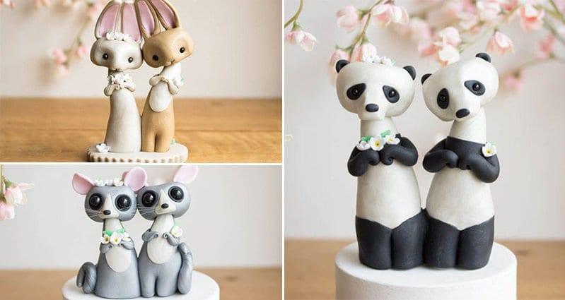 Sofie Skein Creates Adorable Animal Wedding Cake Toppers
