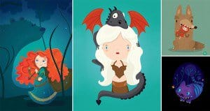 Artist Creates Cute Versions Of Famous Characters