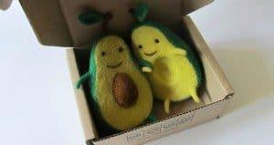Avocado Wool Sculptures