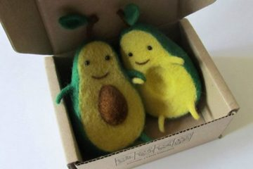 Avocado Wool Sculptures