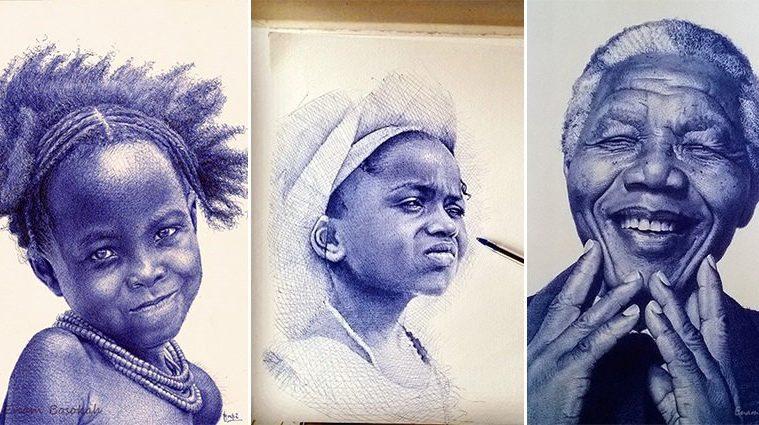 Ballpoint Pen Portraits