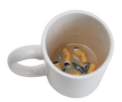 Cigarette Butt Joke Mug