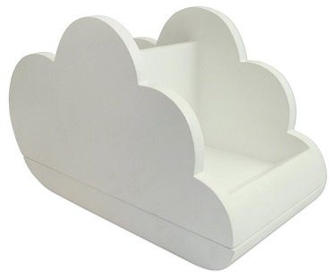 Cloud Desktop organizer white