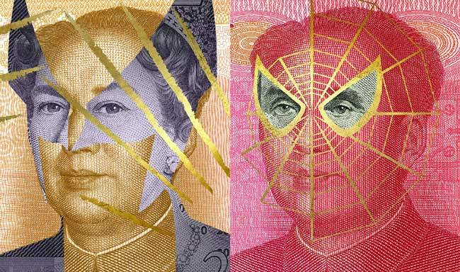 Currencies-around-the-world-look-better-with-superheroes-on-them-rather-than-politicians-spider