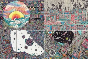 Detailed And Colorful Notebook Drawings