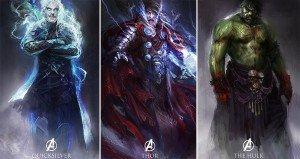 Fantasy Drawings Avengers Heroes