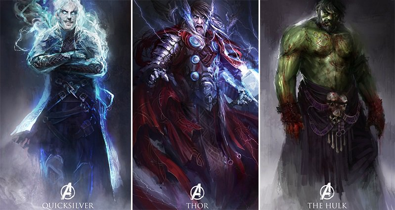 Artist Daniel Kamarudin Reimagines The Avengers Heroes And Villians With A Fantastical Look