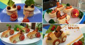 Hotdog Breakfasts Which Tell Stories To Her Kids
