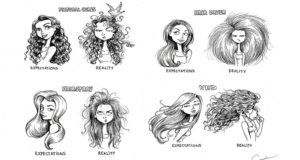 Illustrations About Curly Hair