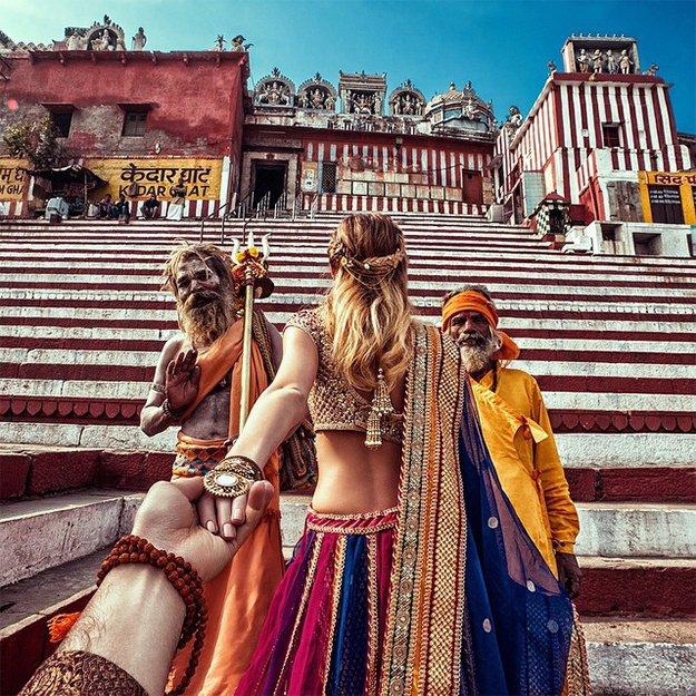India Back Pose