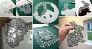 Intricate Art From Single Sheets Of Paper