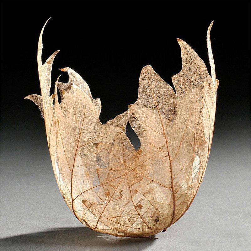Leaf Bowls Up Close