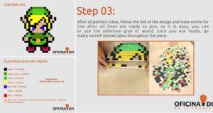 Legend Of Zelda Wooden Pixel Block Art