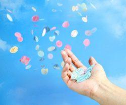 Love Hearts Party Confetti scatter