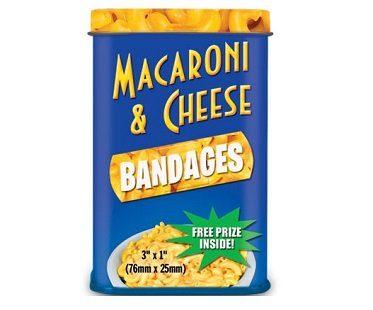 Macaroni And Cheese Bandages tin