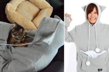 Mewgaroo Cat Hoodie