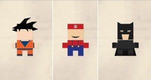 Minimalist Illustrations Pop Culture Icons