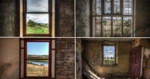 Photography Views Through Windows Of Derelict Rooms