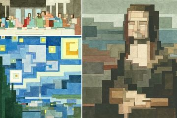 Pixelated Watercolor Versions Of Famous Paintings
