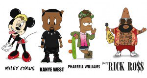 Pop Stars And Cartoon Characters Mix