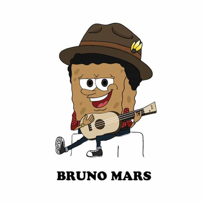 Popstars-As-Iconic-Cartoon-Characters-bruno-mars
