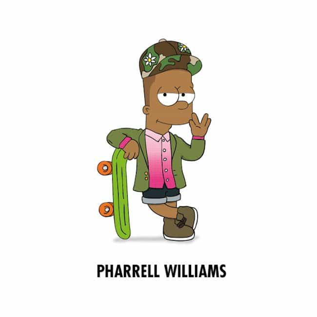 Popstars-As-Iconic-Cartoon-Characters-pharrell