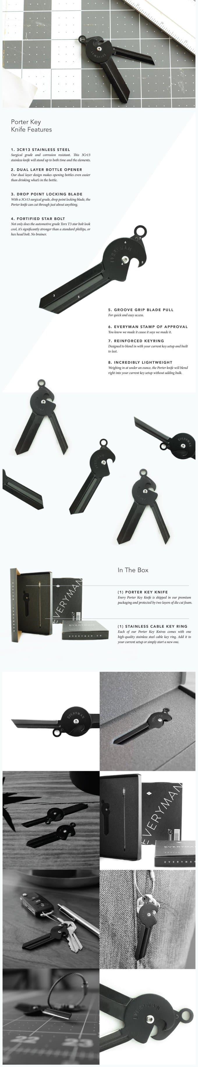 Porter Key Knife