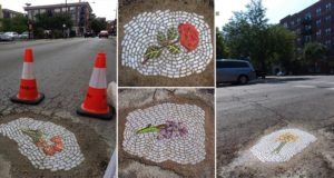 Potholes Filled With Mosaics