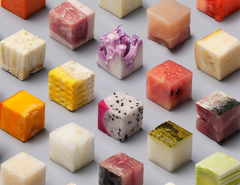 Raw Cubes Close Up