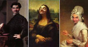Rowan Atkinsons Face Into Historic Paintings