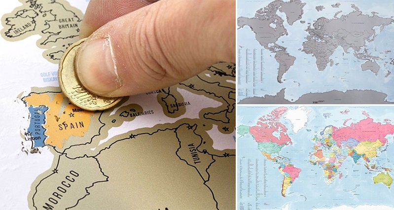 Travelers will love this scratch off world map that lets you track travelers will love this scratch off world map that lets you track the countries youve visited gumiabroncs Images