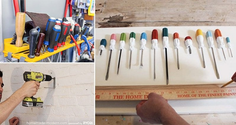 Homemade Coat Rack ben uyeda used old screwdrivers to make an awesome multicolored