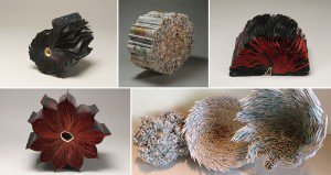 Sculptures Made From Old Books