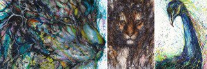 Splattered Ink Animal Portraits