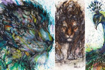 Splattered Ink Animal Portraits