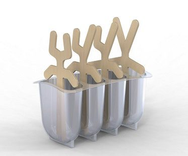 Stick Men Popsicle Molds set