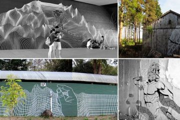 Street Art Made Out Of Tape