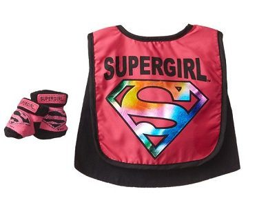 Supergirl Caped Bib And Booties